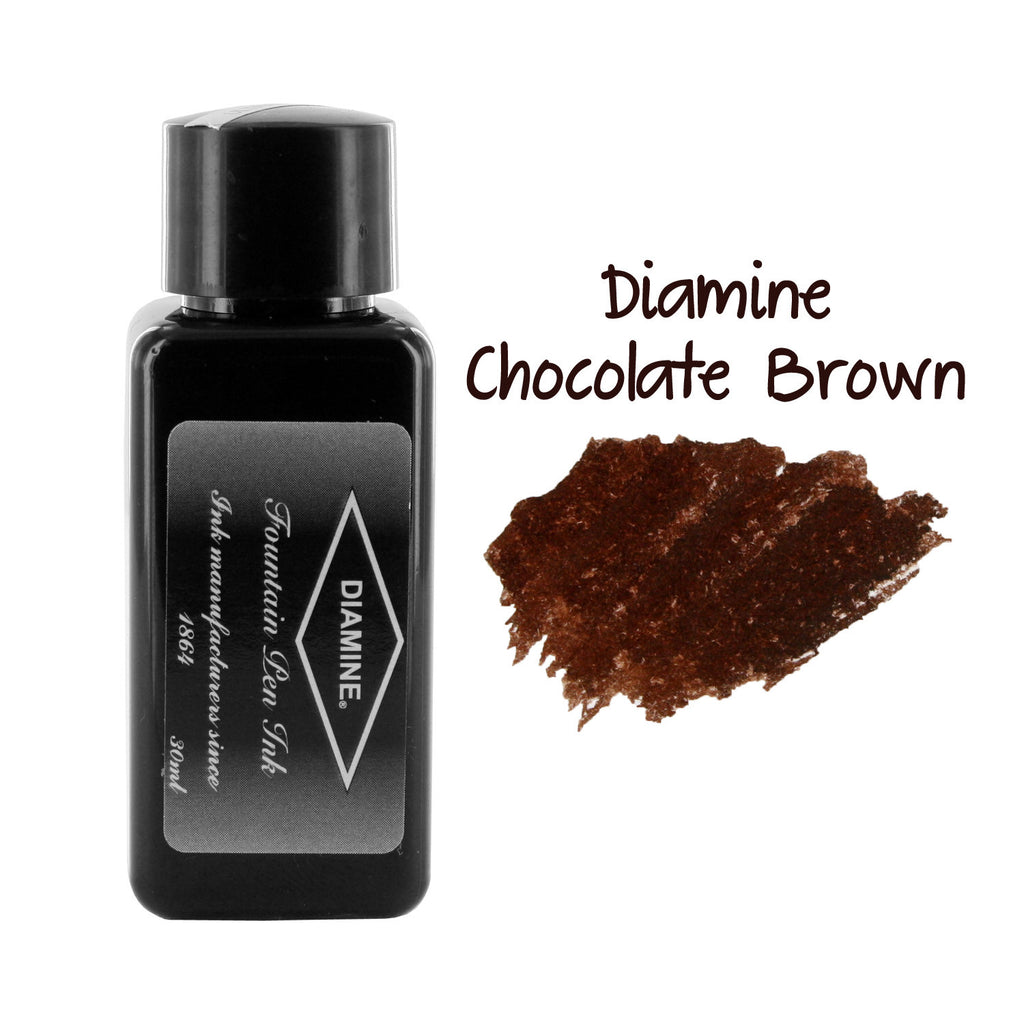 Diamine Fountain Pen Bottled Ink, 30ml - Chocolate Brown