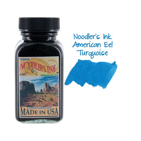 Noodler's Ink Fountain Pen Bottled Ink, 3oz - Eel Turquoise