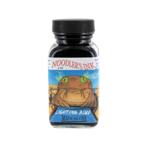 Noodler's Ink Fountain Pen Bottled Ink, 3oz - Highlighter Lightning Blue