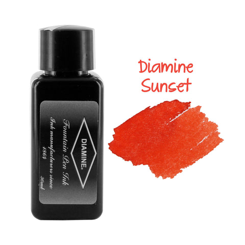 Diamine Fountain Pen Bottled Ink, 30ml - Sunset