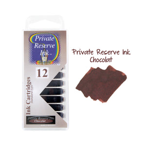 Private Reserve Ink Short International Ink Cartridges, Pack of 12 - Chocolat