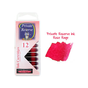 Private Reserve Ink Short International Ink Cartridges, Pack of 12 - Rose Rage