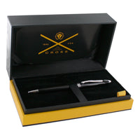 Cross Townsend Black Lacquer with Rhodium Plated Appointments Ball Point Pen