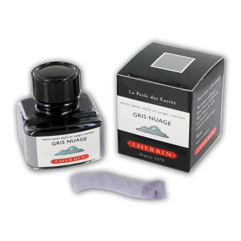 J. Herbin La Perle des Encres Fountain Pen Ink Bottled 30 ml Gris Nuage (H130-08