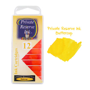 Private Reserve Ink Short International Ink Cartridges, Pack of 12 - Buttercup