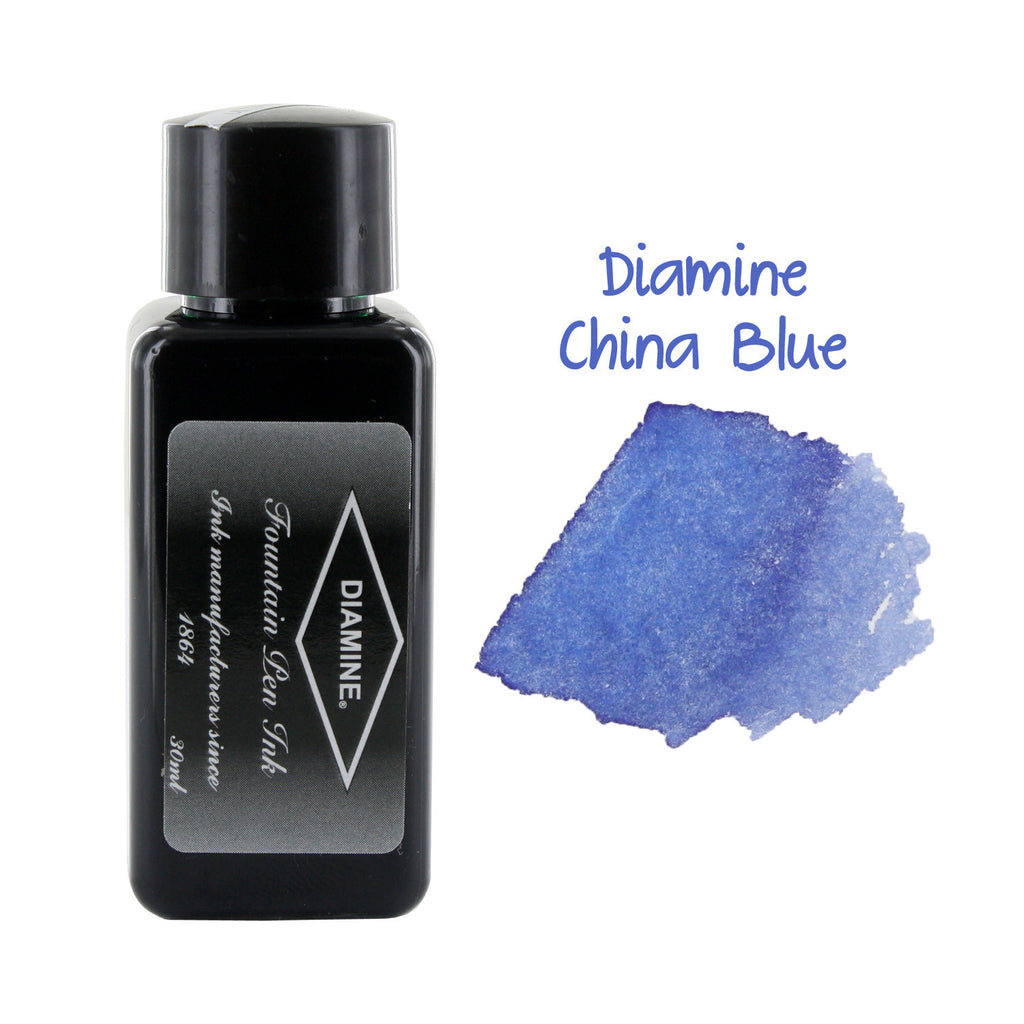 Diamine Fountain Pen Bottled Ink, 30ml - China Blue
