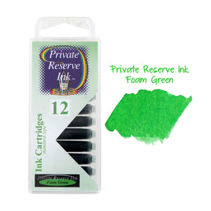 Private Reserve Ink Short International Ink Cartridges, Pack of 12 - Foam Green