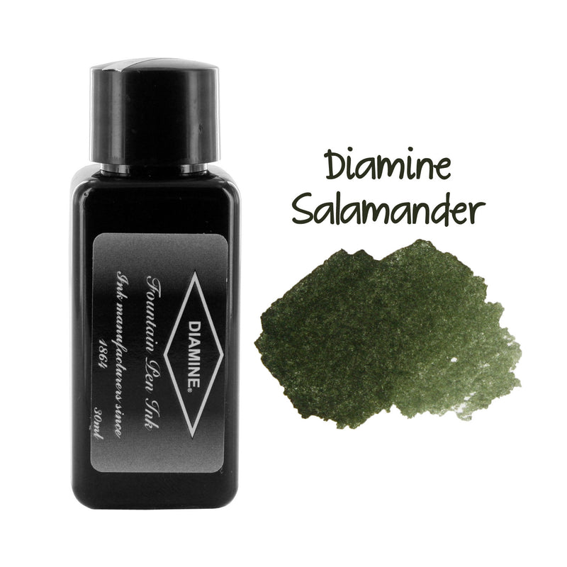 Diamine Fountain Pen Bottled Ink, 30ml - Salamander (Green)