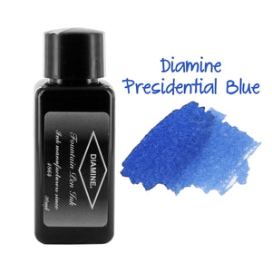 Diamine Fountain Pen Bottled Ink, 30ml - Presidential Blue