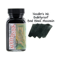 Noodler's Ink Fountain Pen Bottled Ink, 3oz - Bulletproof Bad Black Moccasin