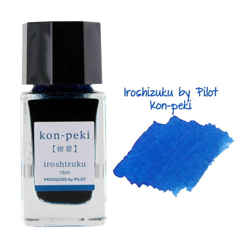 Pilot Iroshizuku Mini Fountain Pen Bottled Ink, 15ml, Kon-Peki