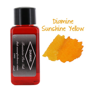 Diamine Fountain Pen Bottled Ink, 30ml - Sunshine Yellow