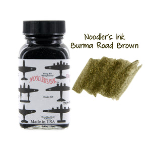 Noodler's Ink Fountain Pen Bottled Ink, 3oz - VMail Burma Road Brown
