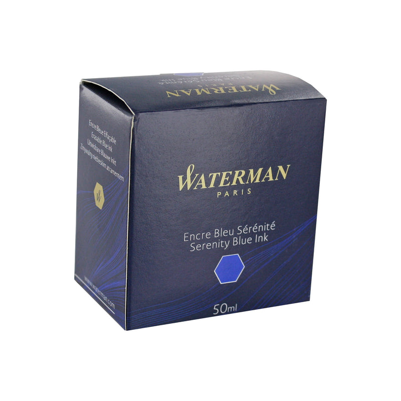 Waterman Serenity Blue Fountain Pen Bottled Ink For Fountain Pens in the original packaging.