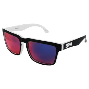 Spy Optic Helm Whitewall Rectangle Sunglasses - Grey with Blue Mirror