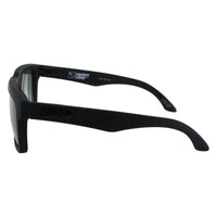 Spy Optic Helm Square Sunglasses, Soft Matte Black, Happy Gray & Green, 57 mm