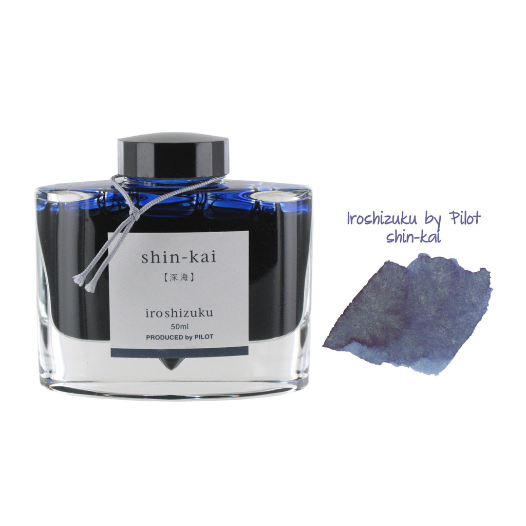 Pilot Iroshizuku Bottled Fountain Pen Ink, 50ml - Shin-Kai