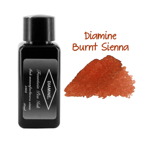 Diamine Fountain Pen Bottled Ink, 30ml - Burnt Sienna