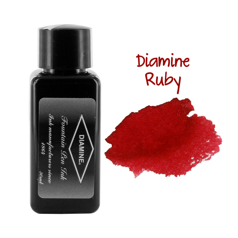 Diamine Fountain Pen Bottled Ink, 30ml - Ruby