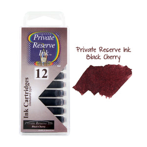 Private Reserve Ink Short International Ink Cartridges, Pack of 12 - Black Cherry