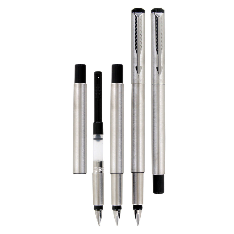 Parker Vector Stainless Steel CT Fountain Pen - Fine Nib