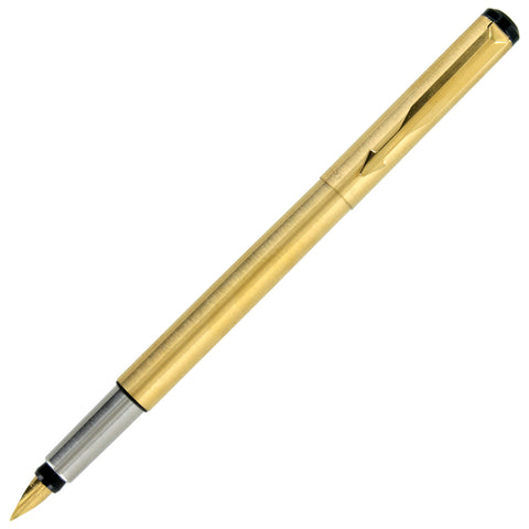 Parker Vector Gold Plated Gold Trim Fountain Pen - Fine Nib