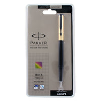 Parker Beta Premium Black & Gold Fountain Pen - Fine Nib