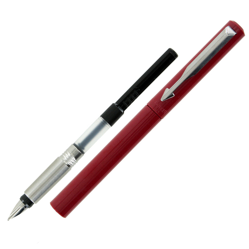 Parker Vector Standard Red CT Calligraphy Fountain Pen Set