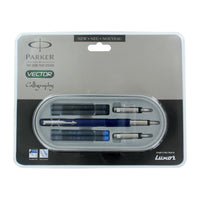 Parker Vector Standard Blue CT Calligraphy Fountain Pen