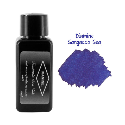 Diamine Fountain Pen Bottled Ink, 30ml - Sargasso Sea