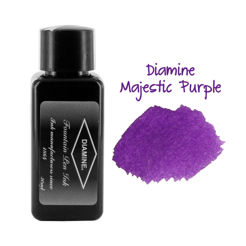Diamine Fountain Pen Bottled Ink, 30ml - Majestic Purple