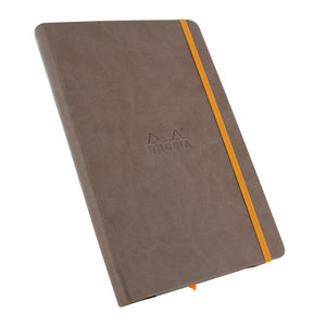 Rhodia Rhodiarama A5 Webnotebook, 5.5 in x 8.25, Lined - Taupe (118744)