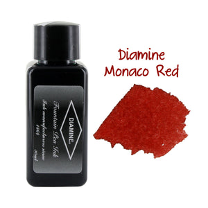 Diamine Fountain Pen Bottled Ink, 30ml - Monaco Red