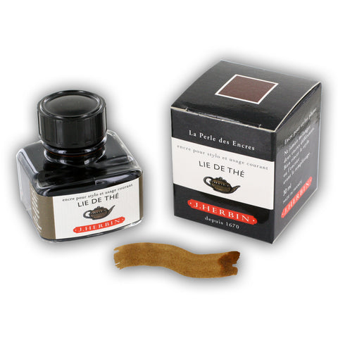 J. Herbin La Perle des Encres Fountain Pen Ink Bottled 30 ml Lie De The (H130-44