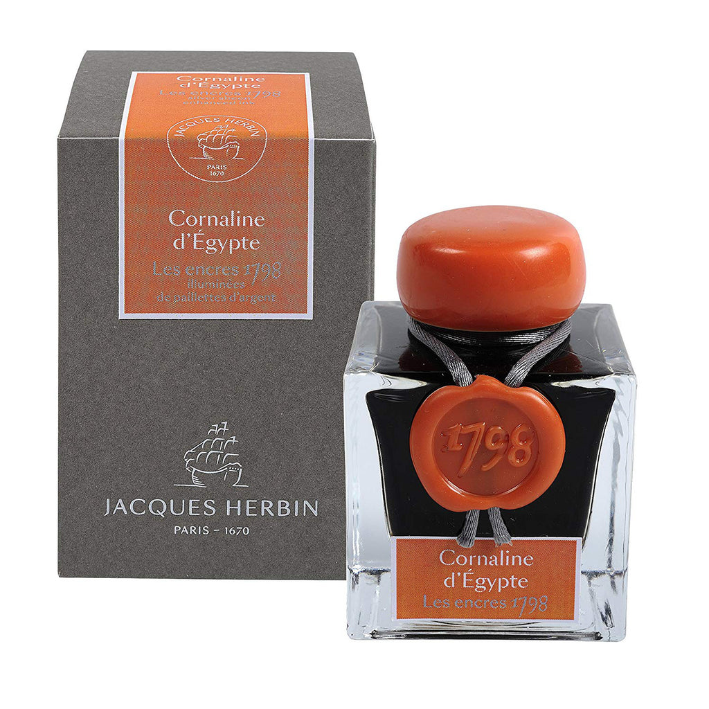 "J. Herbin ""1798"" Anniversary Fountain Pen Ink - Cornaline d'Egypte - 50ml Bottle"