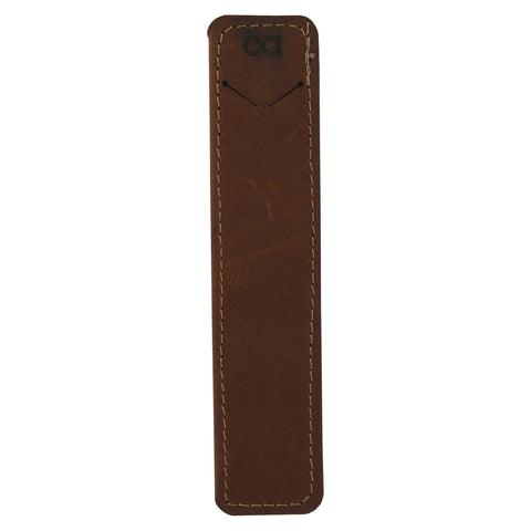 Allegory Single Pen Genuine Leather Holder Slip Case - Saddle
