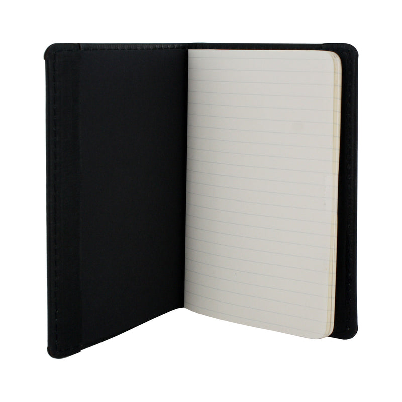 Allegory Etch Moleskine Memo Book Leather Journal Cover with 3 Memo Books - Black