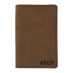 Allegory Etch Moleskine Memo Book Leather Journal Cover with 3 Memo Books - Brown