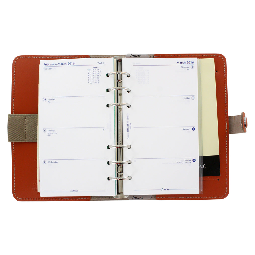 Filofax The Original Personal Organizer, 6.75 x 3.75 -  Burnt Orange