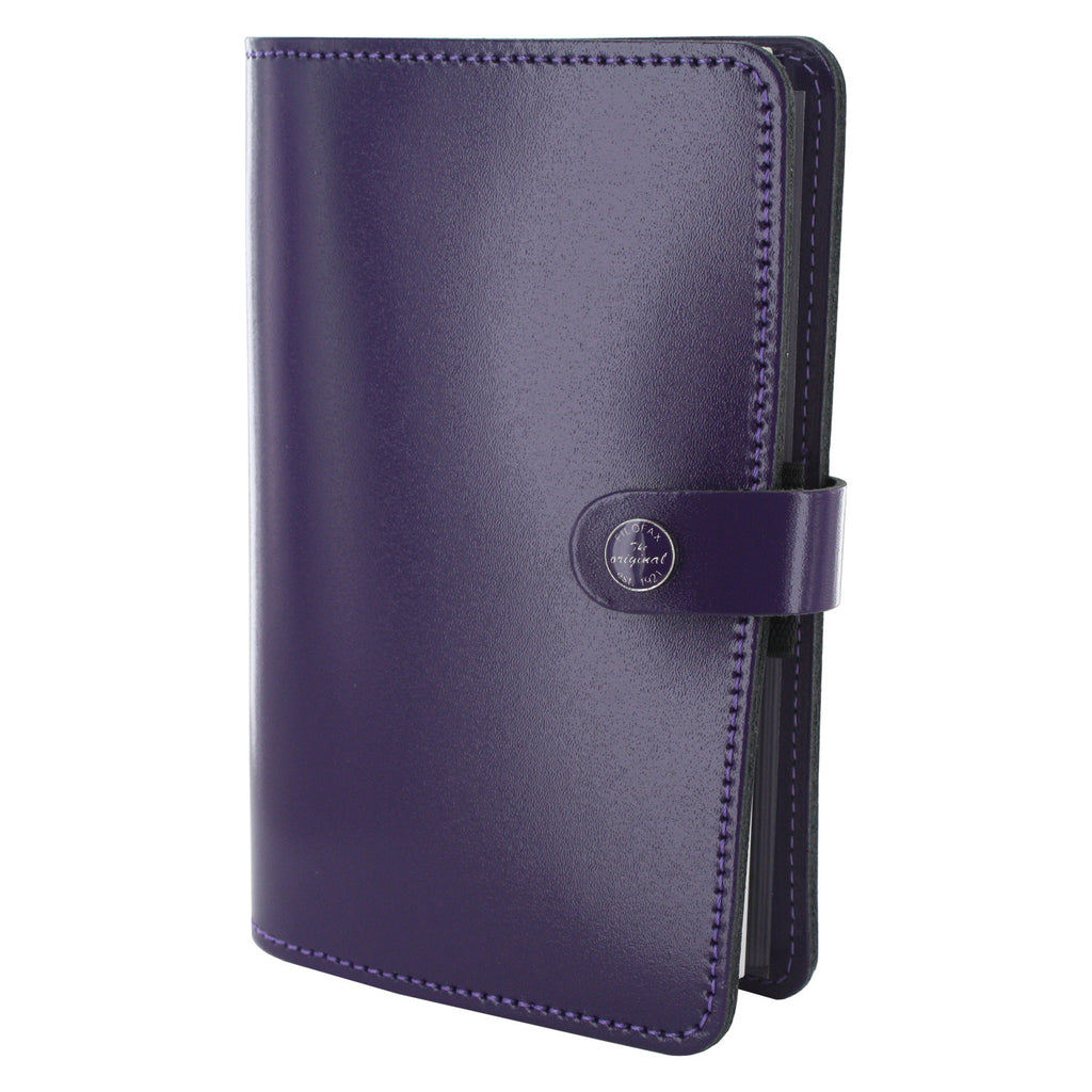 Filofax The Original Personal Organizer, 6.75 x 3.75 -  Patent Purple