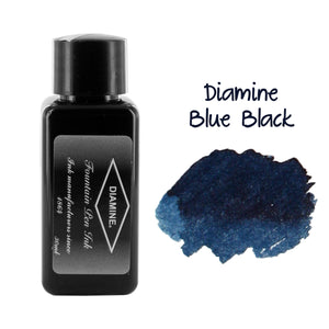 Diamine Fountain Pen Bottled Ink, 30ml - Blue Black