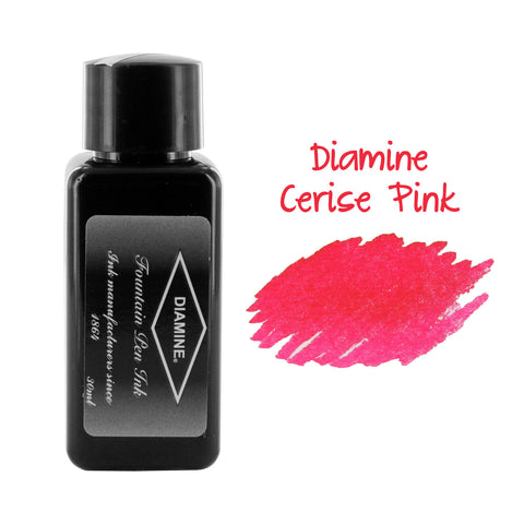 Diamine Fountain Pen Bottled Ink, 30ml - Cerise (Pink)