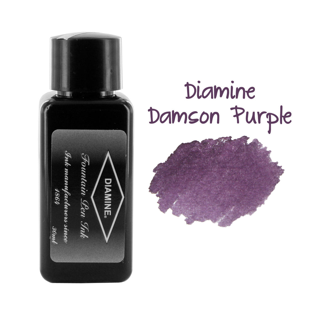 Diamine Fountain Pen Bottled Ink, 30ml - Damson Purple