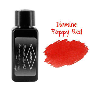 Diamine Fountain Pen Bottled Ink, 30ml - Poppy Red