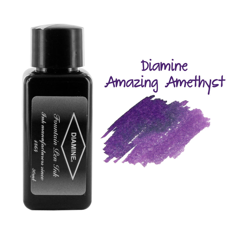 Diamine Fountain Pen Bottled Ink, 30ml - Amazing Amethyst