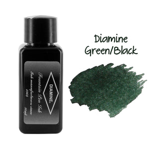 Diamine Fountain Pen Bottled Ink, 30ml - Green/Black