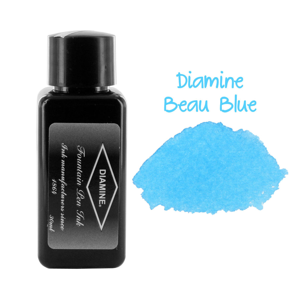 Diamine Fountain Pen Bottled Ink, 30ml - Beau Blue
