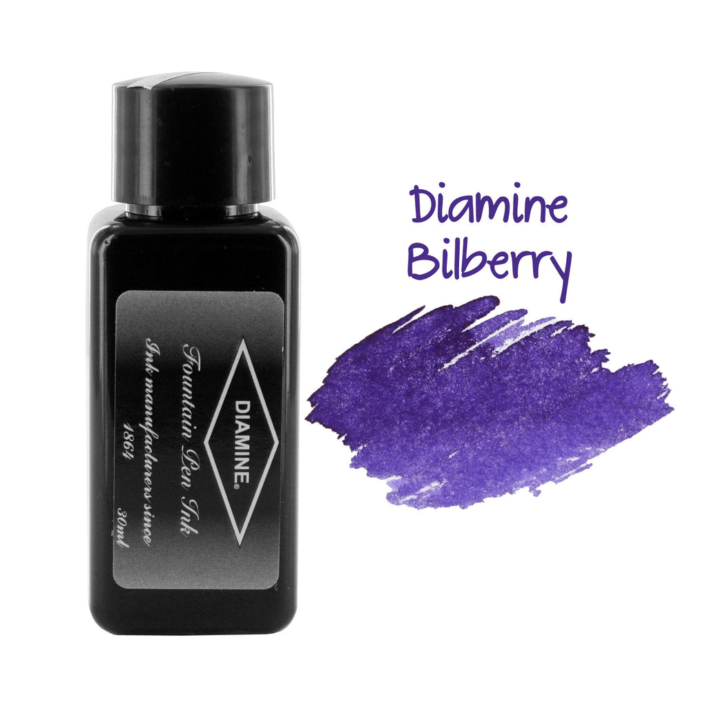 Diamine Fountain Pen Bottled Ink, 30ml - Bilberry (Purple)