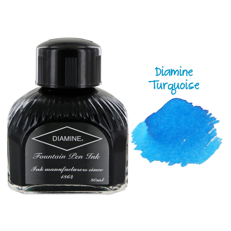 Diamine Fountain Pen Bottled Ink, 80ml - Turquoise