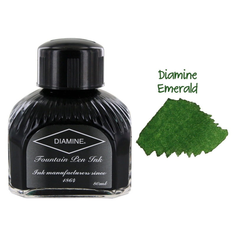 Diamine Fountain Pen Bottled Ink, 80ml - Emerald